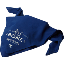 """Bad To The Bone"" Dog Bandana"