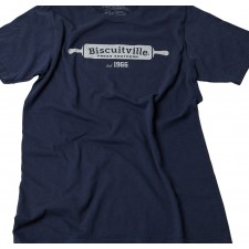 Biscuitville FRESH SOUTHERN navy casual logo t-shirt