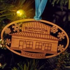 Biscuitville Wooden Ornament